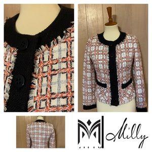 Milly Cream Boucle Jacket   Size 2